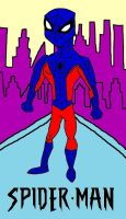 Blue Spider-Man - Colored by MetroXLR99