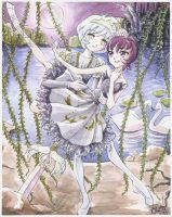 Princess Tutu -- Rue and Mytho by Shiroiyuki3