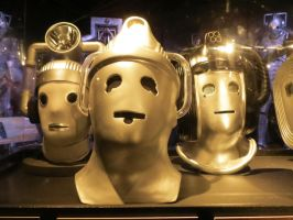 doctor who props and  sets cardiff cybermen heads by Sceptre63