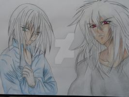 Eyes Rutherford and Bakura by SeleneAlucard