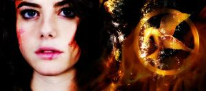 Katniss Banner 1A by Liliah
