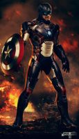 Iron Captain America. by spidermonkey23