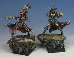 Sisters painted by James Wappel by newboldworld