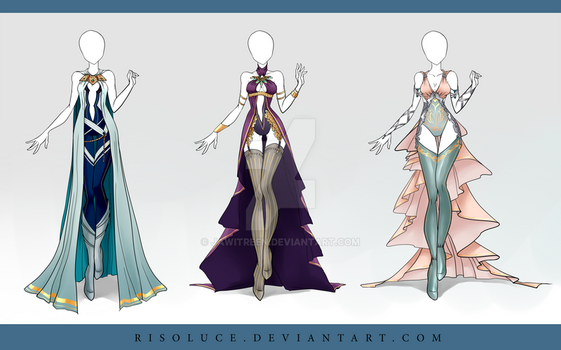 (CLOSED) Adoptable Outfit Auction 88-90 by JawitReen