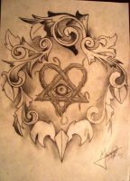 Filigree Heartgram by MaiaDrawTheSky
