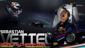 Vettel World Champion 2010 by brandonseaber