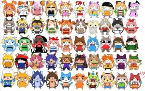 YO-KAI watch X Cartoon network by EZstrongs