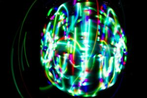LED Hoop Painting by JennDixonPhotography