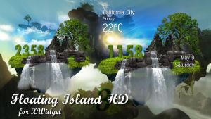 Floating Island Widget 3 HD for xwidget by jimking
