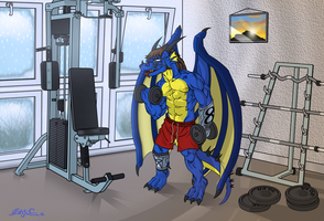 -Comm- At the gym by DragonMaster616