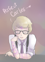 Colored version of Cecil talking about Carlos by maicafee