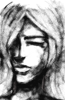A woman with closed eyes by idont0know