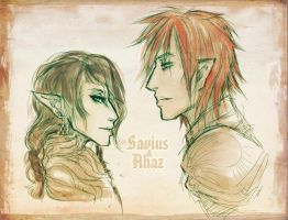Savius and Ahaz by Reliah