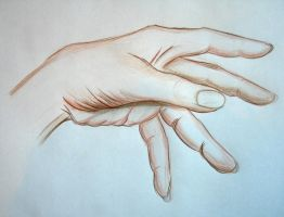 Crayon Hand by soffl