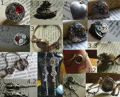 Steampunk jewelry , first time here by stiff91