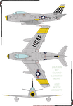 North American F-86 Sabre (USAF) by Grand-Lobster-King