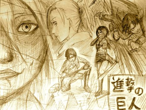 Doodling Attack on Titan by Nao871