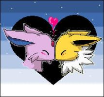 Jolty and Espeon