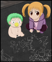 Baby Beel and Futaba by lTHRl