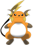 My first vector of Raichu. Version 2. by Flutterflyraptor