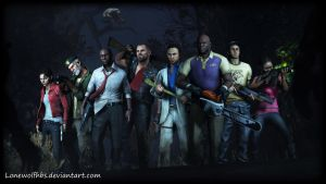 [SFM] Left 4 Dead - Survivors by LoneWolfHBS