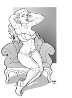 Emma Frost commish by robthesentinel