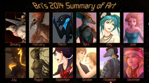 2014 Summary of Art by CharlotteChambers