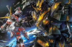 Mobile suit Gundam Unicorn by GoddessMechanic