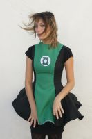 Green lantern cosplay dress by grafik-fashion