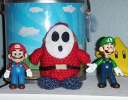 Shy Guy Amigurumi by debra-e