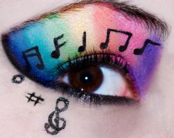 Rainbow Music Eyes by KatieAlves