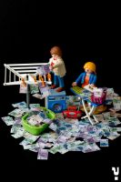 Playmobil money laundry by Y4why