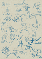 20 Sketches 2/11/13 by BlindCoyote