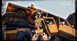 Delinquent Draenei - Nyx Car Pile - Second Life by Jace-Lethecus