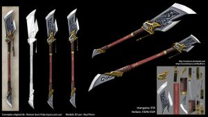Lowpoly Spear 3D model by Continum