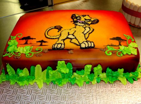 lion king cake 2 by buttercreamfantasies