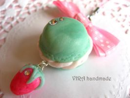 French macaroon mint by virahandmade