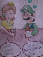 Drunk Luigi by MC-Ash-Tray