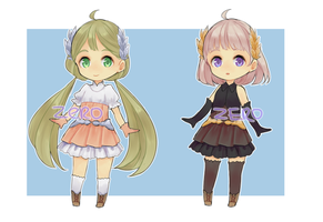 [ AUCTION ClOSED ] Adoptable set #1 fantasy girls by ZeroLifePoints