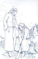 Finrod and Aegnor by fish-in-fridge