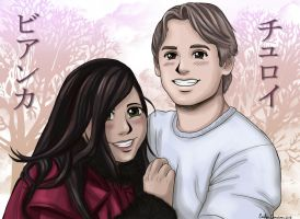 Bianca and Troy Anime Portrait Colored by OtakuEC