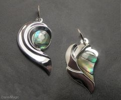Abtract paua pendants by Dans-Magic