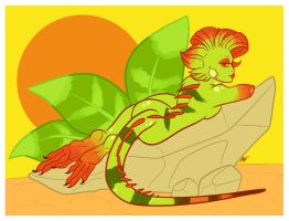 Day 15 Lizard by OhSadface