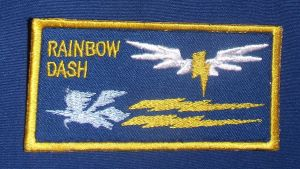 Rainbow Dash Wonderbolts Nametag - Colored by Spaceguy5