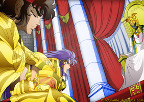 Saint Seiya - Aioros Pope by TheWolfMonster