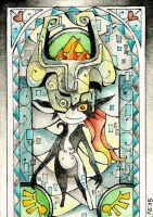 Stained Glass: Midna by Scarlett-Winter