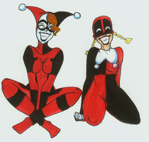 Lady D and Harley BFFs 4EVR by SilverTallest