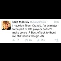 BlueMonkey aka James's Tweet by Koopa-Doll