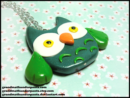 Custom Owl Necklace by GrandmaThunderpants