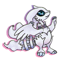 Reshiram Chibi Sticker design by GarnetWeavile461